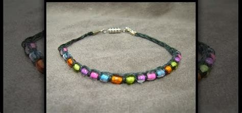 how to make beaded jewelry how to make a beaded hemp bracelet using macrame