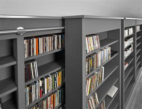 Sliding Shelves Contemporary Home Theater edmonton by Habitat Studio