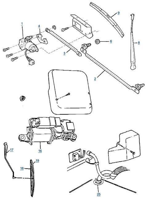 repair windshield wipe control 2003 jeep wrangler seat position control yj wrangler wiper parts 4 wheel parts