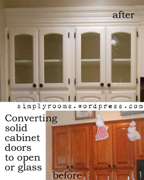 How To Put Glass In Cabinet Doors Diy Changing Solid Cabinet Doors To Glass Inserts Front Porch Cozy