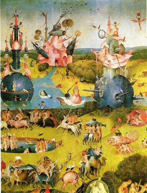 hieronymus bosch garden of pin hieronymous bosch garden of earthly delights close up