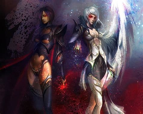 good evil warriors fantasy abstract background