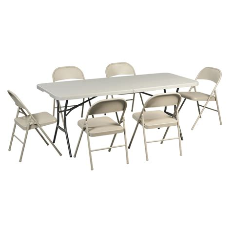 fold in half table lowes lowe s lifetime products 6 rectangle folding table