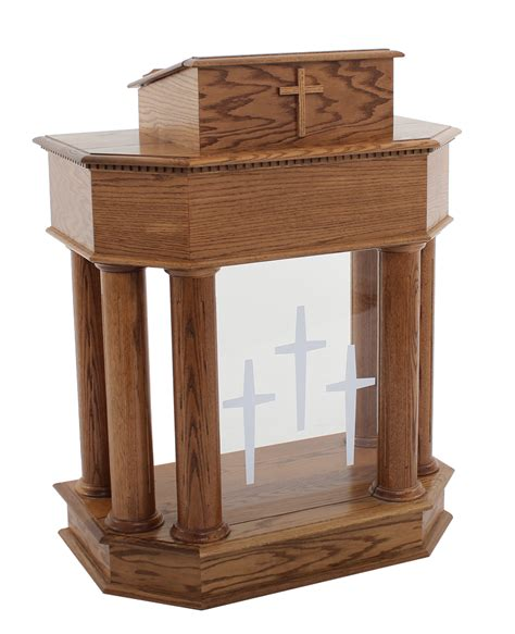 Church Pulpit Furniture by Traditional Style Open Wood Pulpit