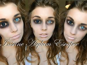 Girls Costumes Insane Asylum Escapee Halloween Makeup Tutorial Youtube