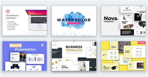 50 Best Free Powerpoint Templates On Behance Professional Powerpoint Template Free