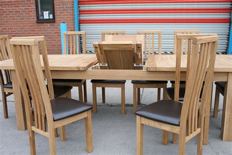 contemporary oak dining table sets tallinn tutbury