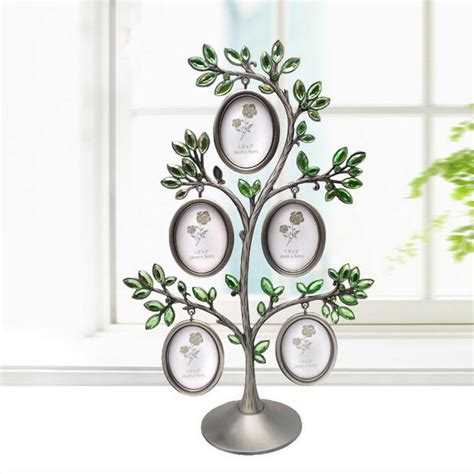 gifts for home decor new fashion family tree crystal metal photo frame lovely