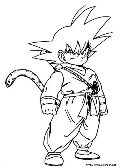 imagenes para colorear de dragon ball z free dibujos de goku 2 coloring pages