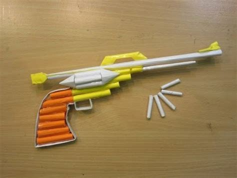 How To Make A Pistol Out Of Paper - how to make a paper gun that shoots easy paper pistol