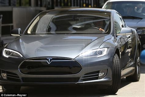 Ford Tesla Harrison Ford Seen Driving His Tesla Model S For The