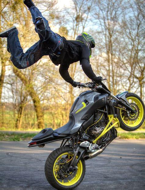 best motorcycle stunts yamaha mt 07 stunt ride wheelie stunt bike world