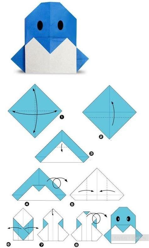 Easy Penguin Origami - pour enfants papiers cr 233 atifs and enfant on