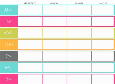 online printable meal planner the design pages free printable meal planners