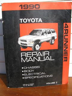 1990 toyota 4runner factory service manual estate sale services 409 750 3688 roland dressler 1990 toyota 4runner factory repair manuals