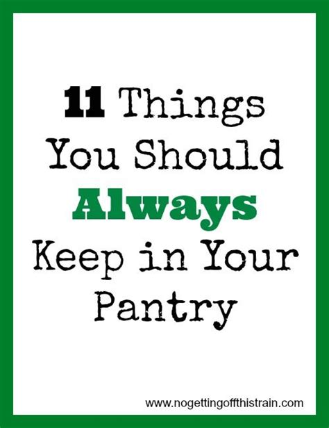 11 things you should always keep in your pantry posts