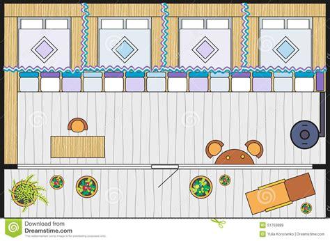 rest house plan rest house in garden stock illustration image 51763689