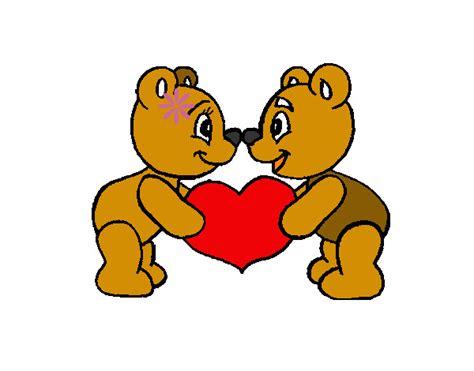 imagenes de amor animadas de osos dibujo de ositossss pintado por belmaxnko en dibujos net