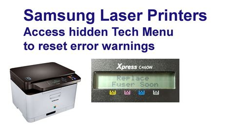 reset samsung printer by web access samsung xpress c460w hidden menus reset those warnings