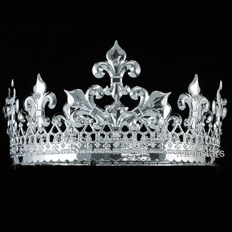 men silver king crown medieval pageant wedding full circle