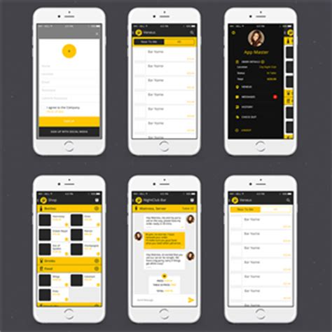 designcrowd mobile app 92 elegant playful app designs for a business in united states