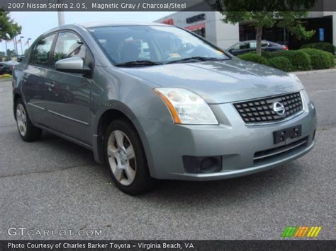 2007 nissan sentra 2 0 s magnetic gray 2007 nissan sentra 2 0 s charcoal steel
