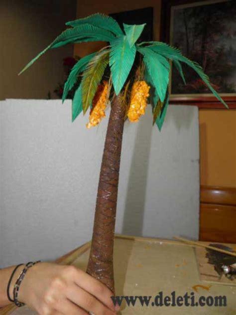 como hacer una palmera de papel como construir una palmera paso a paso bricomanualidades
