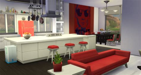 modern open kitchen concept my sims 4 modern open concept kitchen dining and