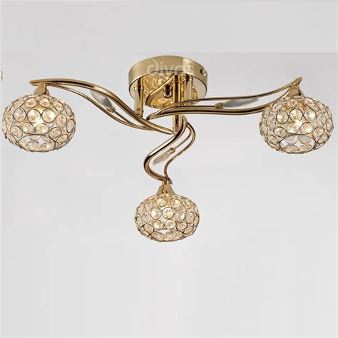Gold Ceiling Lights Diyas Uk Leimo Il Il30963 Gold Three L Ceiling Light