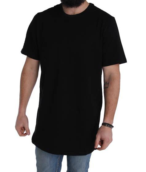 Longline T Shirt Basic Black 4 basic mens longline tees shirt t shirt length 180gsm cotton ebay