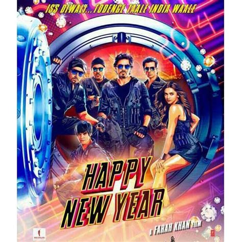 2014 happy new year hindi movie song on you tube poster of shah rukh khan starrer happy new year released