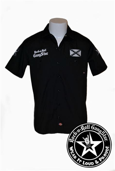 Polo T Shirt Rock On Rckn 005 don t tread on rock n roll dickies work shirt heavy metal rock and roll clothing