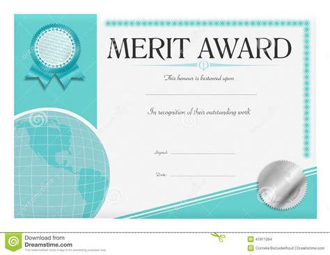 Merit Award Certificate stock illustration. Image of best