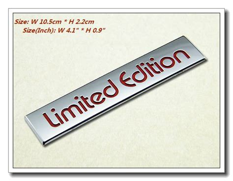 Emblem Limited Crome By Geazstore new chrome logo 3d decal emblem limited edition ebay