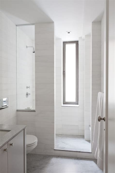 narrow bathroom windows tile shower curb bathroom contemporary with tall narrow