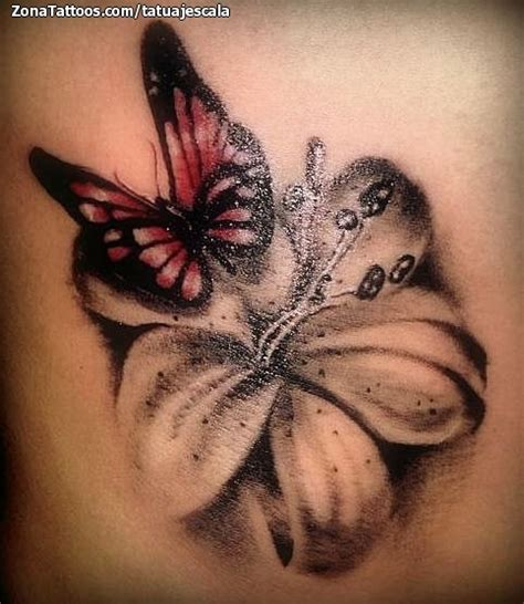 imagenes de mariposas y flores para tatuajes tatuaje de mariposas lirios flores