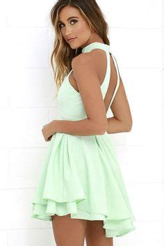 Ll Halter Veve Green a line halter white criss cross straps lace homecoming dress with pleats for a