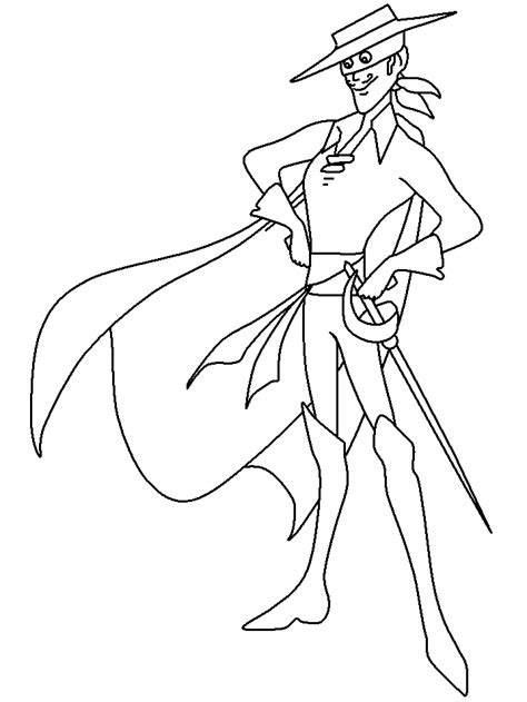 coloring pages for zorro zorro colouring pages