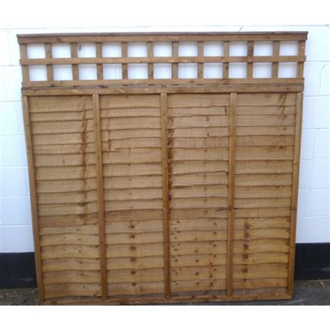 Fence Panel Trellis Top waneylap panel fencing with trellis top longford fencing