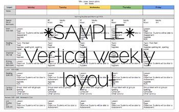 Google Doc Weekly Lesson Plan Template By Meg S Crayons Tpt Docs Lesson Plan Template 2