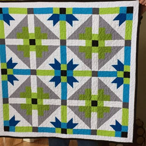 Aztec Quilt Pattern by Genx Aztec Baby Quilt Quiltsby Me