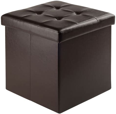 storage ottoman small ashford espresso upholstered small storage ottoman from