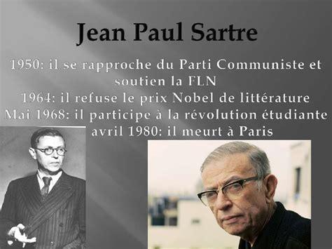 Jean Paul Sartre Se S Dan Revolusi existentialisme est un humanisme de sartre radanielina faniry