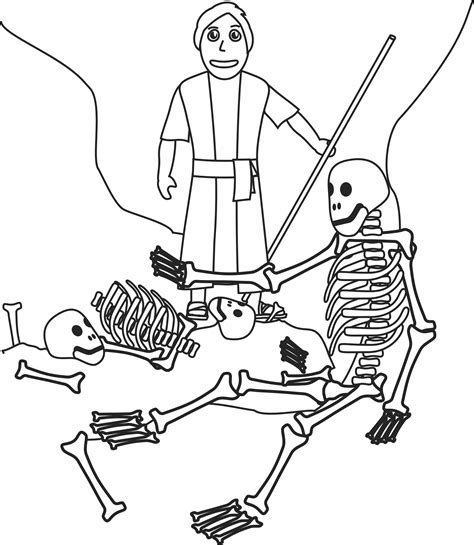 coloring pages of bones ezekiel and the valley of bones coloring page our