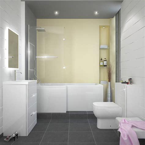 left shower bath l shape shower bath left handed buy at bathroom city