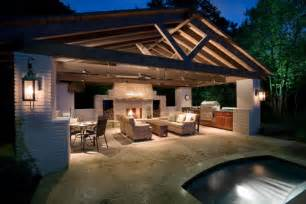 Beautiful Outdoor Kitchens by A Beautiful Outdoor Kitchen Space And Fireplace Accented