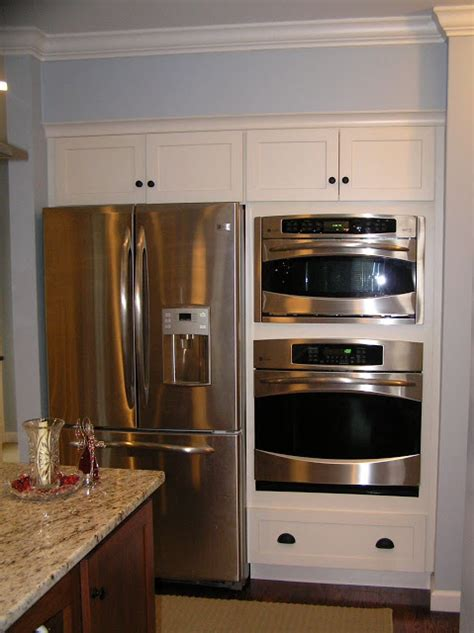 Glass Shelves Kitchen Cabinets by Can A Double Oven Go Next To A Fridge