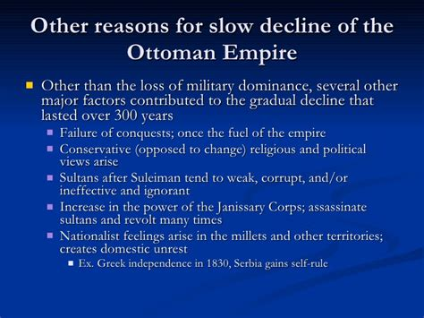 what caused the ottoman empire to decline the decline and fall of the ottoman empire