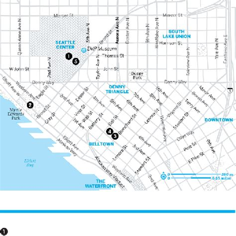 seattle map belltown belltown seattle center seattle page 160