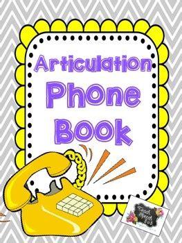 articulations books articulation phone book by teach speech 365 teachers pay